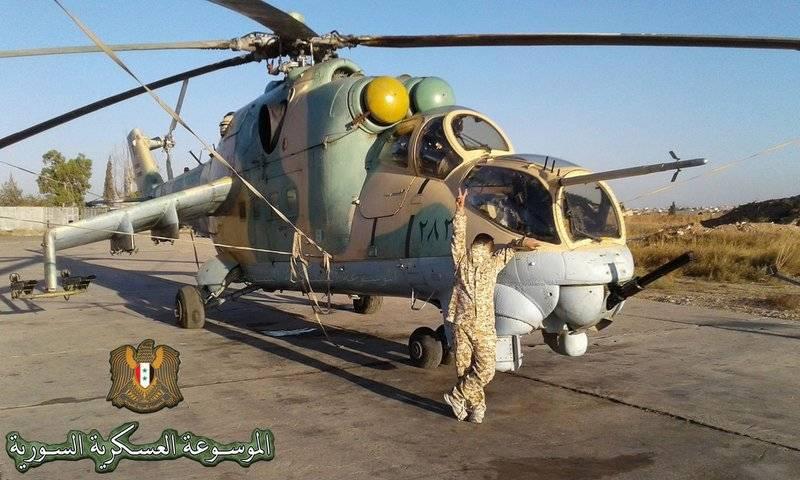 Die syrische Mi-25 bombardiert weiterhin Terroristen