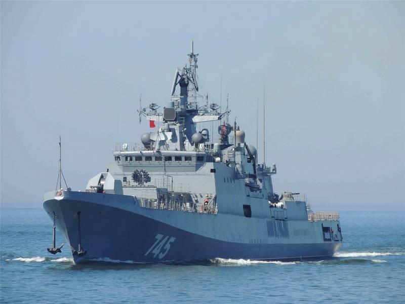 """Fregatte """"Admiral Grigorovich"""" führte Übungen im Mittelmeer durch"""