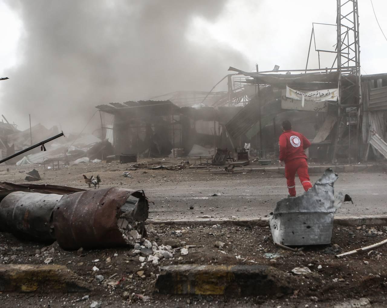 ООН остановила отправку гумконвоя вВосточную Гуту