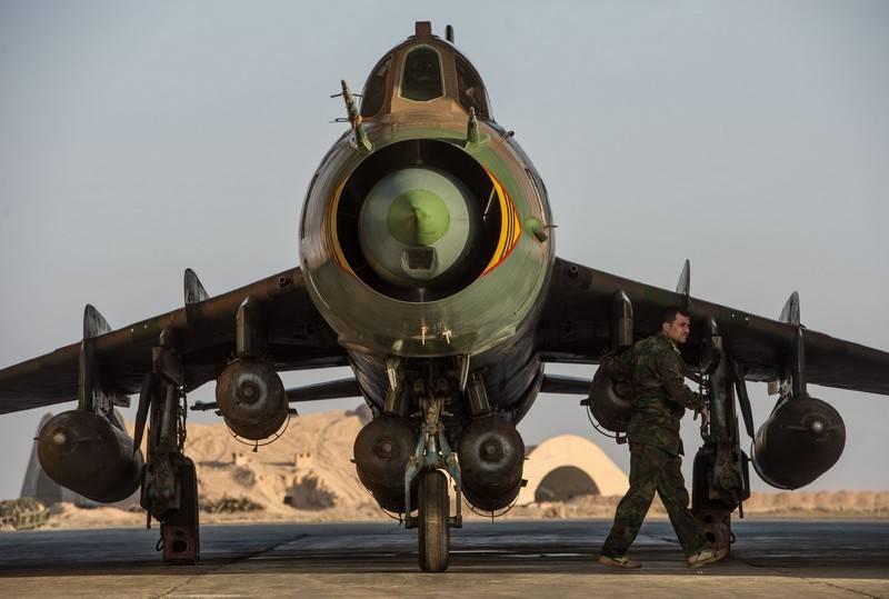 Suriye Su-22 yerli üretim bombalarını kullanıyor