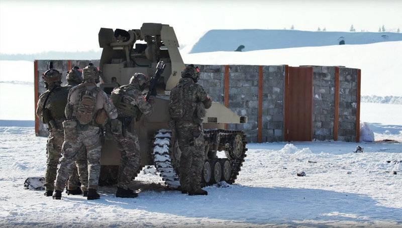 Прошли успешные тестирования военных роботов «Соратник» и«Нахлебник» при морозе