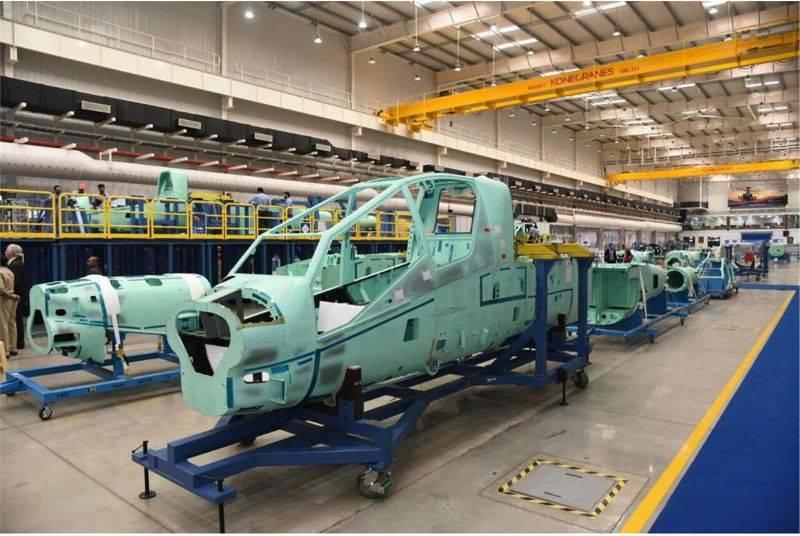 В Индии начато производство фюзеляжей вертолетов AH-64