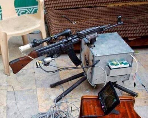 """Die syrische Opposition präsentierte einen """"Roboter"""" mit einem deutschen Maschinengewehr"""
