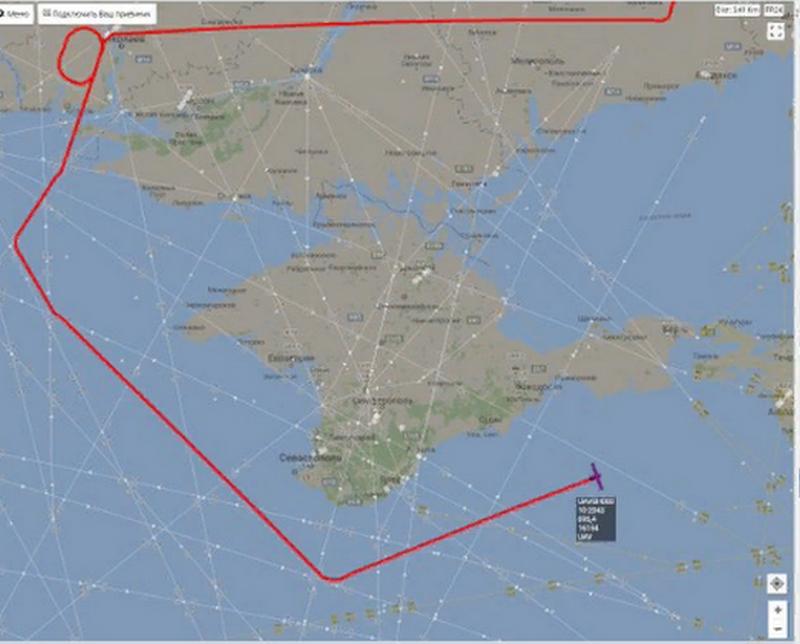 Американский беспилотник провел воздушную разведку у побережья Крыма