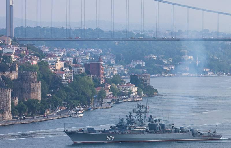 Le troisième depuis le début de la semaine, le navire de combat de la marine russe est entré en mer Méditerranée