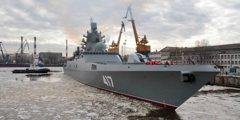 "Meios: Reparada fragata do motor diesel ""Almirante Gorshkov"""