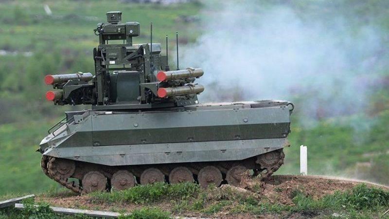 Шойгу: серийное производство боевых роботов может начаться в 2018 году