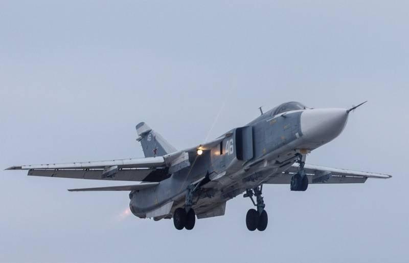 YuVO pilots on Su-24М worked flights at altitude 25 m above ground