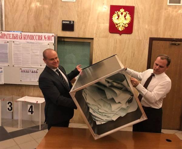 Предварительные данные о результатах выборов президента России