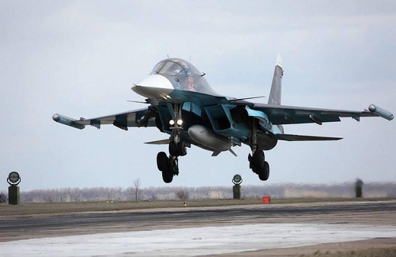 В ЗВО начались учения экипажей Су-34