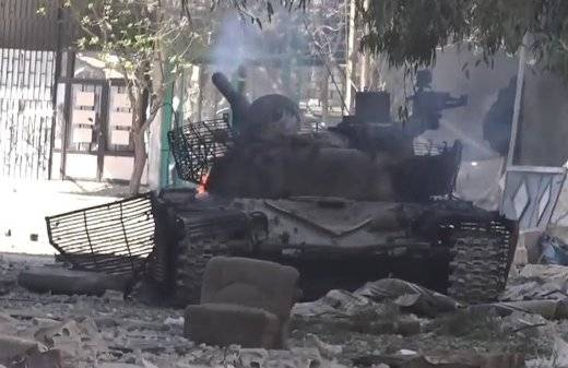 """Syrian military lost in the battle of """"Italian"""" T-72"""