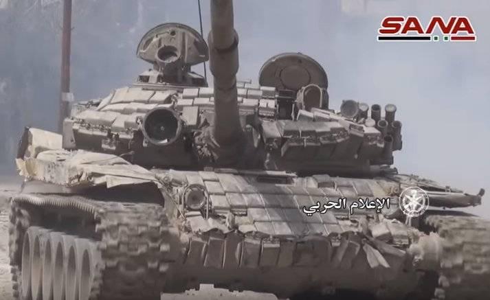 Carri armati con immagini termiche di Viper viste vicino a Damasco