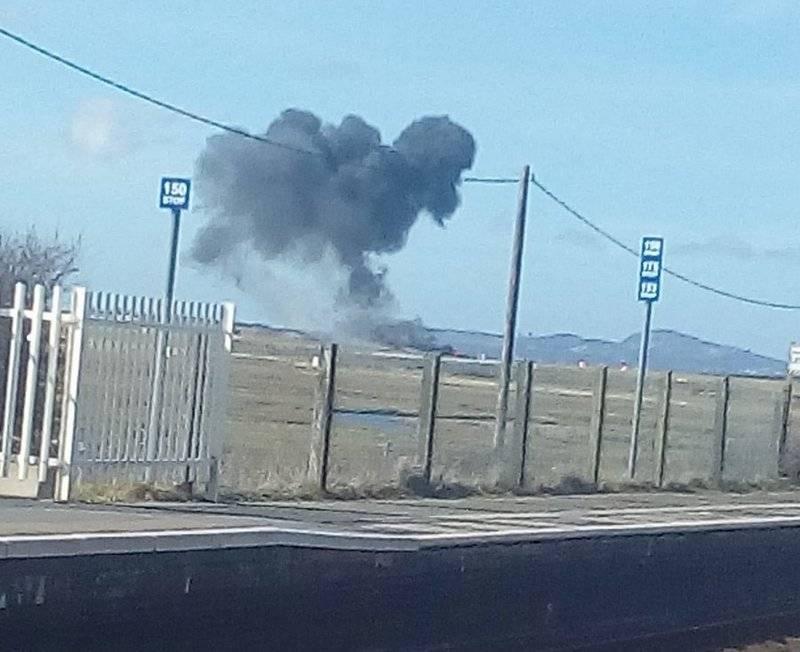 रॉयल एयर फोर्स का विमान ब्रिटेन में दुर्घटनाग्रस्त हो गया