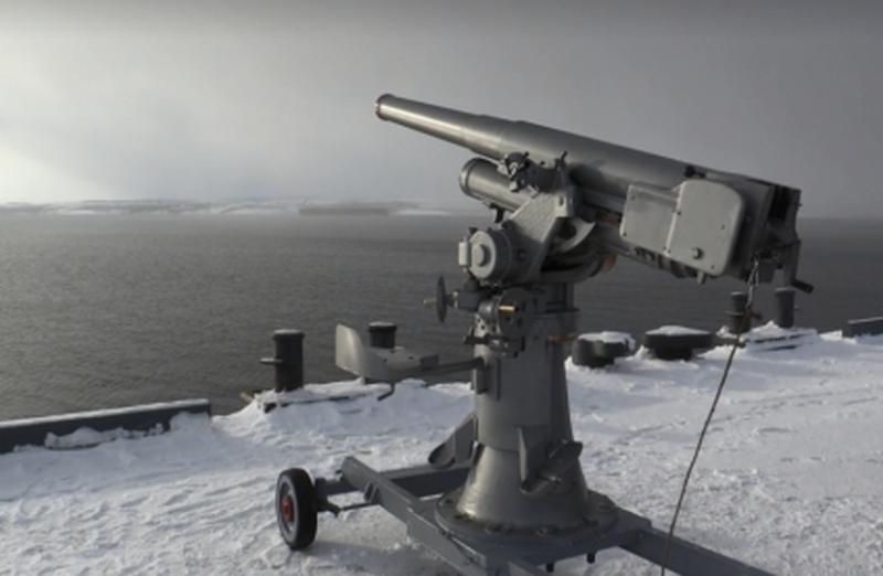 北部の艦隊で首尾よく解放のロシアの1927対空砲をテストしました