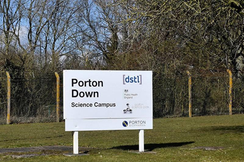 러시아 국방부는 영국 실험실 Porton Down에서 실험을했다.