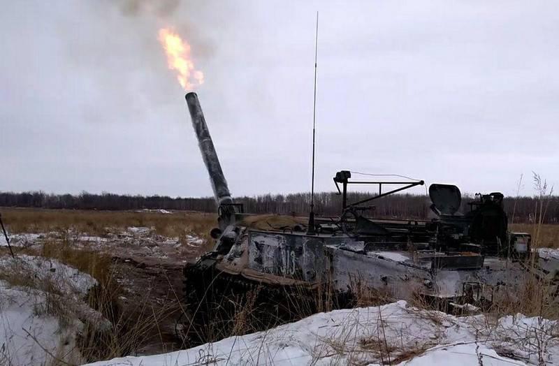 """मध्य सैन्य जिले के टाटस्की परीक्षण स्थल पर, 240 मिमी के स्व-चालित मोर्टार 2C4 """"ट्यूलिप"""" की गणना के लिए अभ्यास आयोजित किए गए थे।"""
