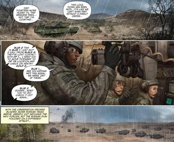 Los cómics sobre la futura victoria de Rusia sobre la OTAN salieron a la venta en los Estados Unidos.