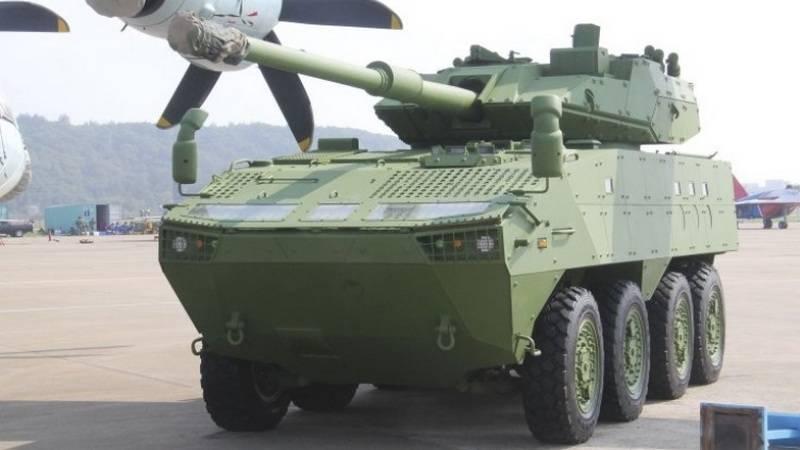 चीनियों ने अपने पहिएदार टैंक को दिखाया