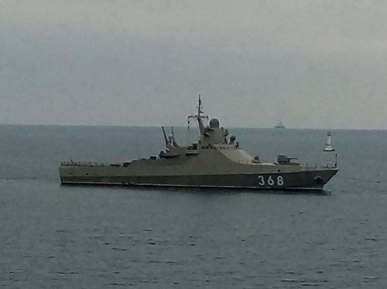 """순찰 함 """"Dmitry Rogachev""""의 승무원은 흑해 함대에서 형성되었습니다."""