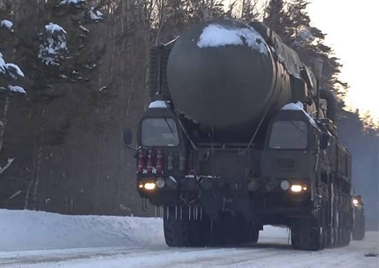 Tagil ünitesinin Yars roket alayı saha pozisyonuna geçmeye başladı.