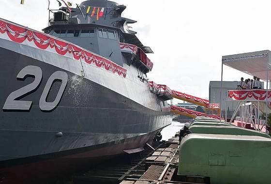 Ein weiteres LMV-Patrouillenschiff startete in Singapur