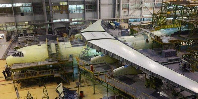 Na fábrica de aviões Ulyanovsk vai lançar um sistema de montagem robótica IL-76MD-90A
