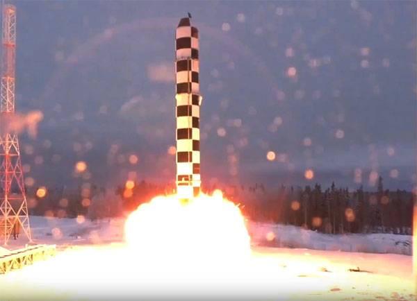 Sarmat ilham veriyor ... En son ICBM'nin başarılı testlerinde