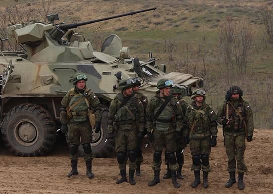 O treinamento do Exército de Armas Combinadas começou na Ossétia do Norte e do Sul