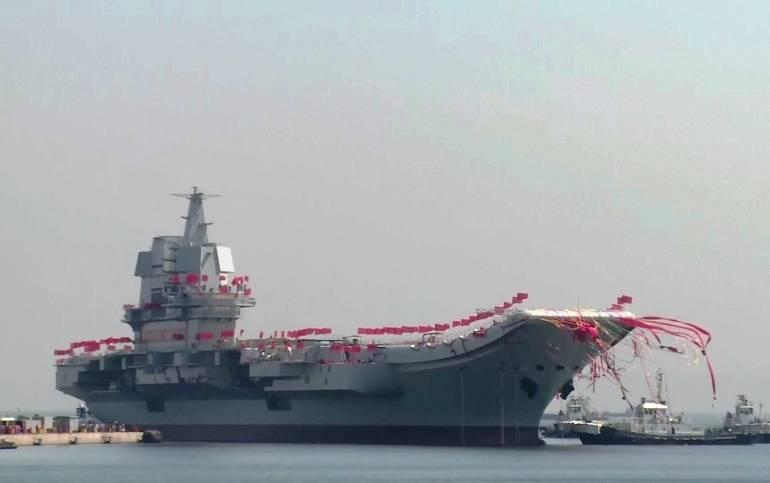 नए चीनी विमान वाहक पोत के पहले रिलीज की तारीख