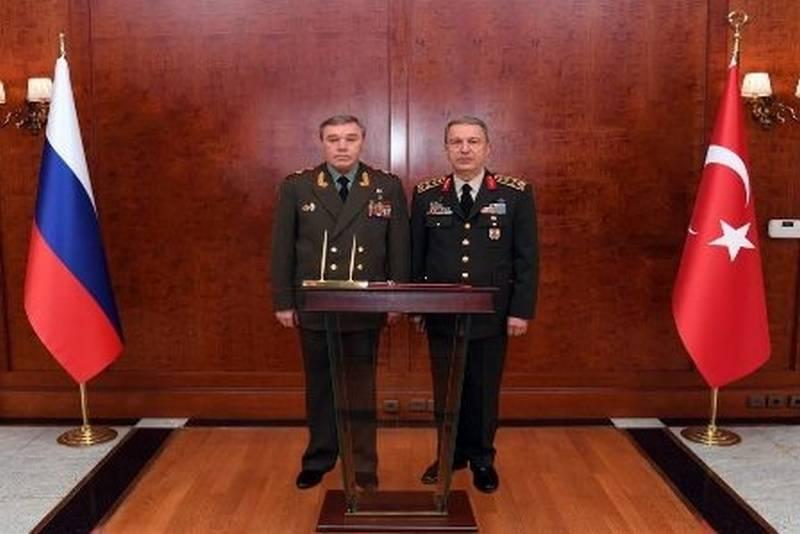 Was ist die Russische Föderation mit der Türkei vereinbart? Abgeschlossene Verhandlungen der Generalstabschefs