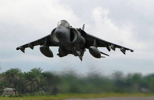 """美国AV-8B""""鹞""""II在中国的非洲遗产中坠毁"""