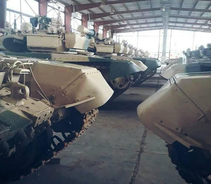 """T-90S """"iraquí"""" equipado con aire acondicionado y nuevas pantallas laterales"""