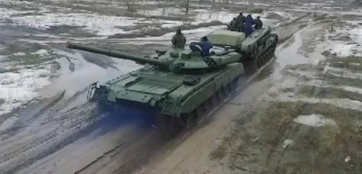 우크라이나에서 발견 된 돌연변이 탱크