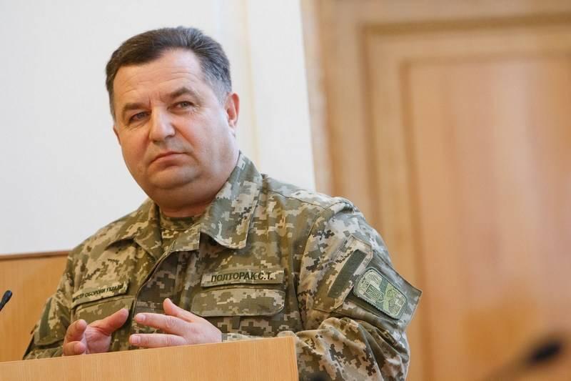 Poltorak: Biz Çeçenya'daki Rusya'nın aksine, Donbas'ta medeni bir şekilde davranıyoruz
