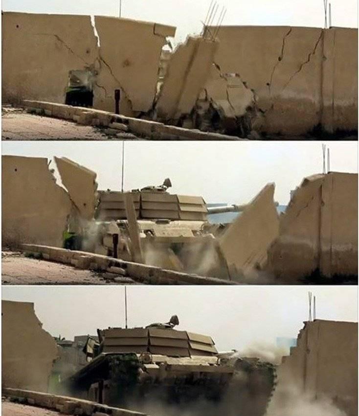 """在大马士革附近的""""角落""""T-72М1攻击"""