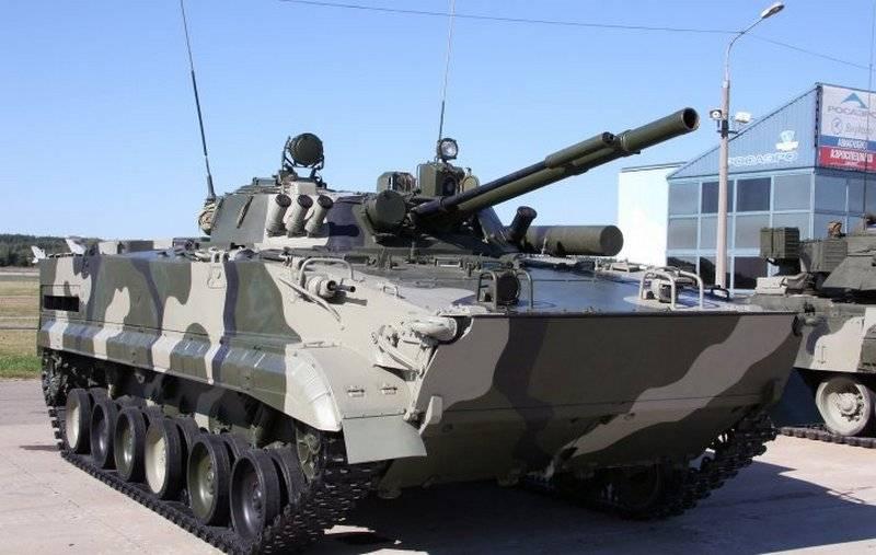 58 वीं संयुक्त-सेना को बीएमपी -3 का एक बैच मिला