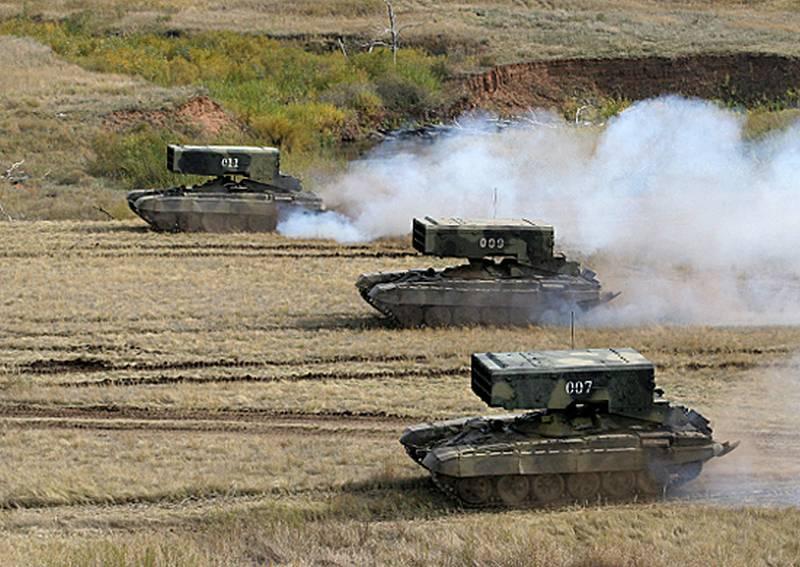 """Il distretto militare sud-orientale ha ricevuto un lotto di TOS-1A """"Pinocchio"""". aggiornare"""