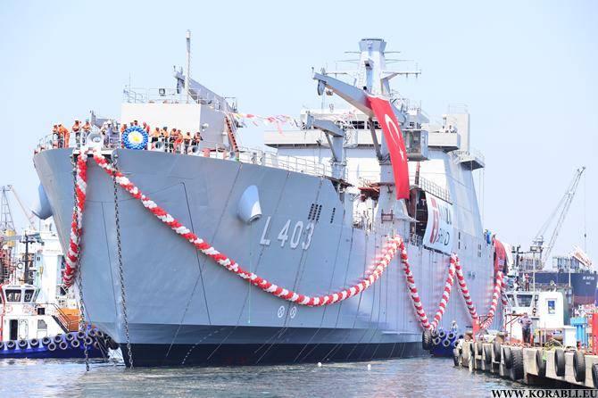 La Marina turca riceve la nave da sbarco del carro armato TCG Sancaktar
