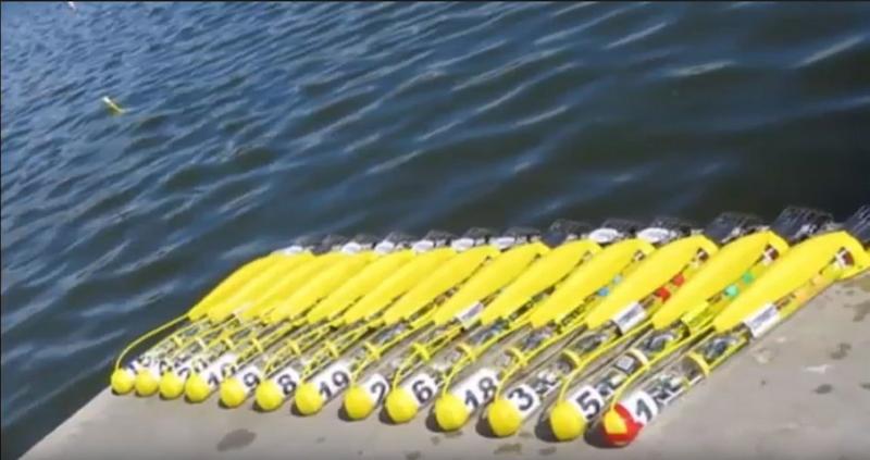 米国では、UAVの群れを作成しました。 今水中