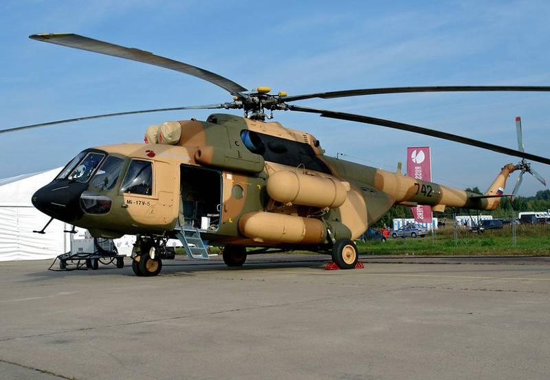 Mi-17B-5の供給に関するインドとの契約は合意した。 サインインする