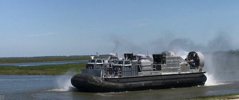 The US Navy began to test the new landing craft
