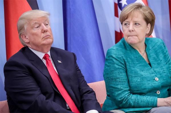 Merkel wird Trump um Freilassung von der Unterstützung für antirussische Sanktionen bitten