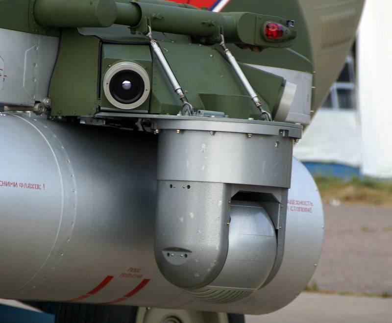 Ahora con Vitebsk. Mi-8AMTSH-V está equipado con un sistema de defensa aérea