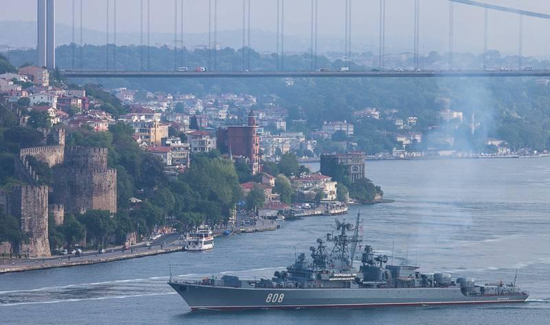 Два русских военных корабля вошли вСредиземное море