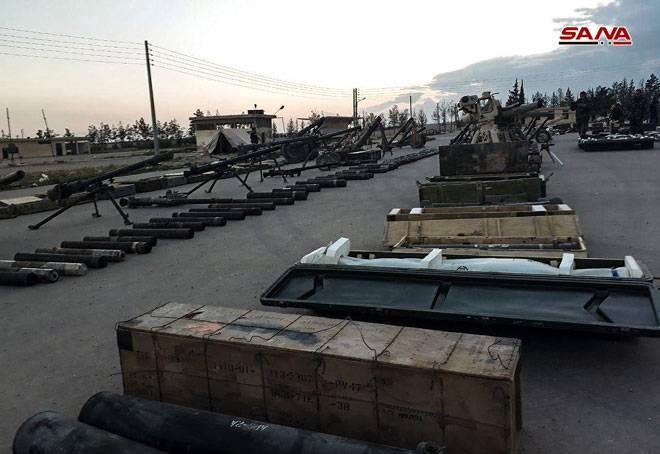 Suriye ordusu Doğu Kalamuna'daki kupalarını ortaya koyuyor