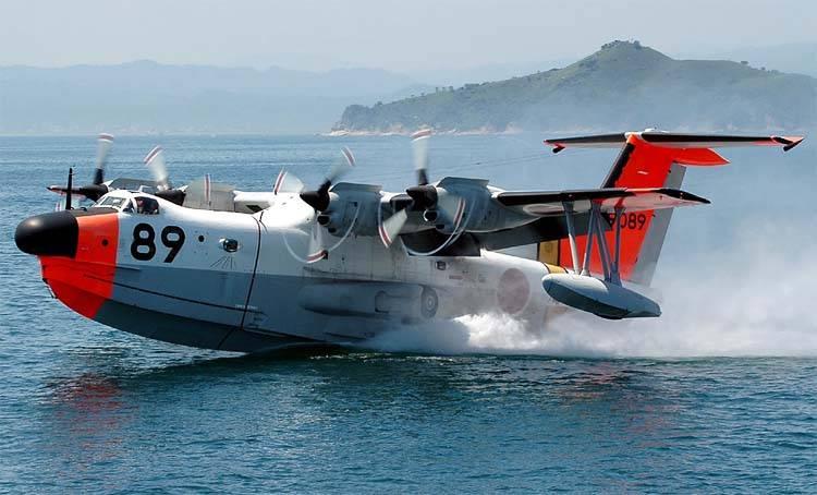 """खोज और बचाव सीप्लेन """"सिन माइव"""" US-1 (जापान)"""