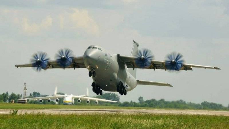 An-70 más componentes extraños. Ucrania mostró An-77