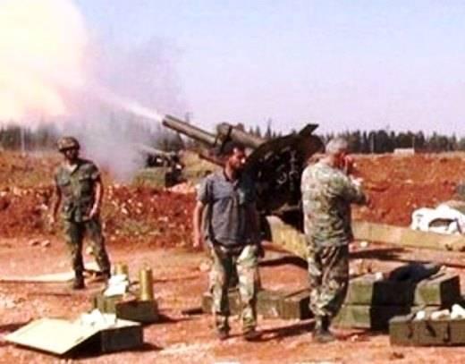 सीरिया में, आतंकवादियों ने महान देशभक्तिपूर्ण युद्ध एमएल-एक्सएनयूएमएक्स की बंदूकें लूट लीं