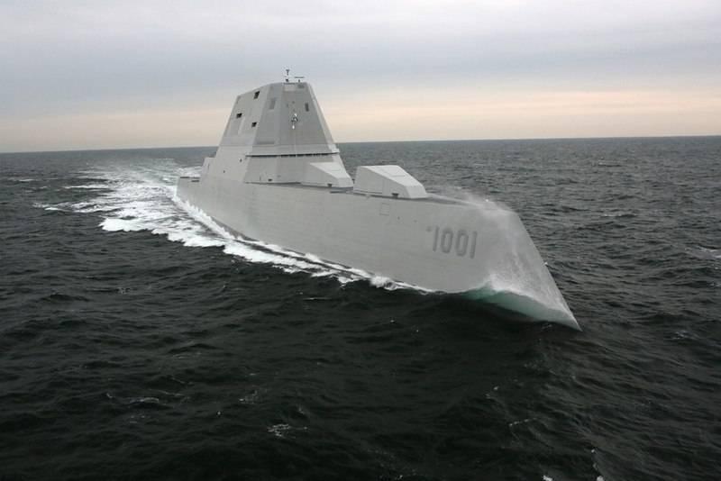 O segundo dos três. Marinha dos EUA recebeu destruidor tipo Zumwalt Michael Monsoor