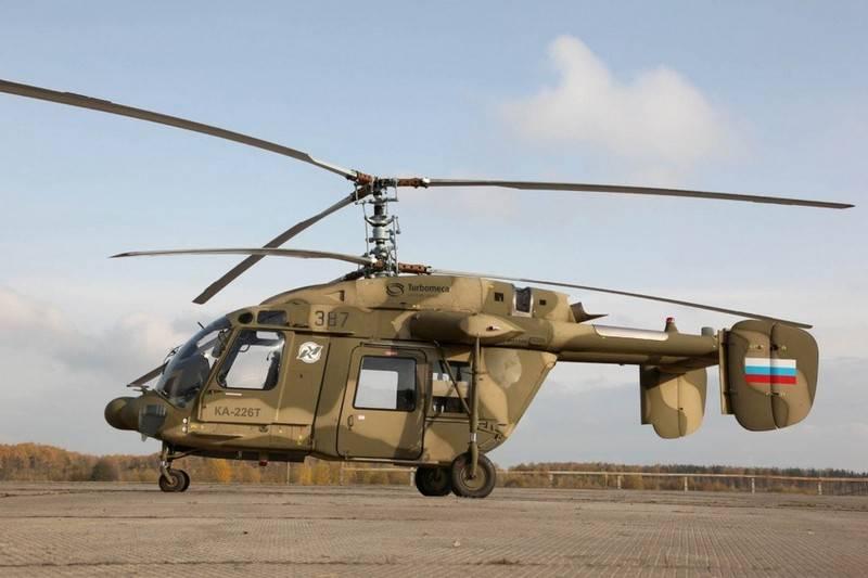 Sivil versiyondayken. İran iki Ka-226T ikmali için başvuruda bulundu